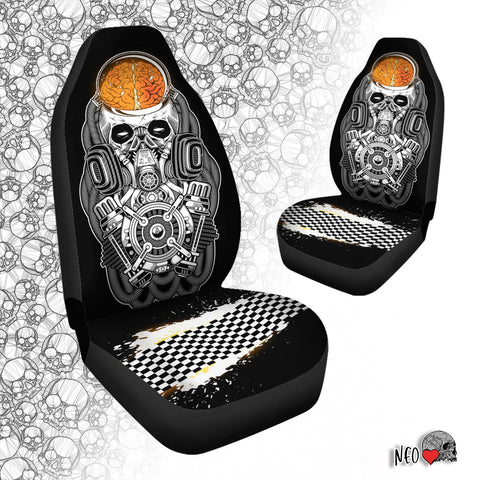 Goth Car Seat Cover Airbag Compatible (Set of 2)
