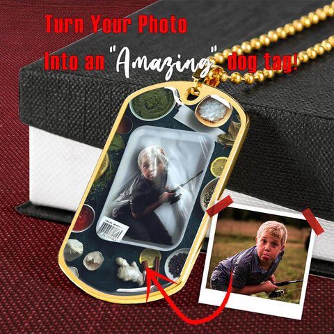 Fresh Memories Personalized Dog Tag Pendant - NeoSkull