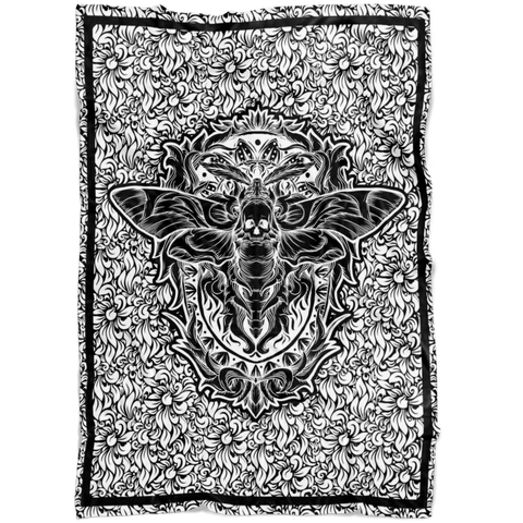 Death Moth Fleece Blanket