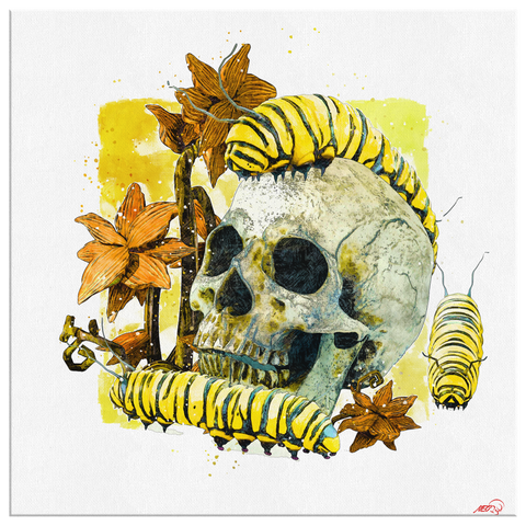 Caterpillars Canvas Wall Art - NeoSkull