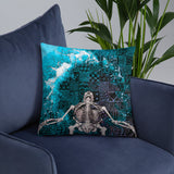 Deep Diving Throw Pillow - NeoSkull
