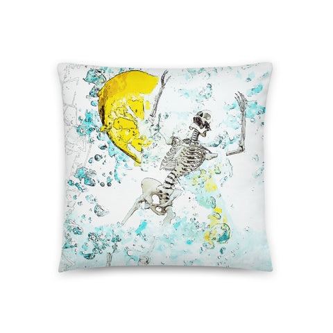 When live gives you lemons v2 Throw Pillow - NeoSkull
