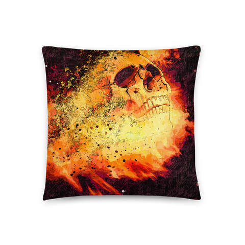 Flame Express Throw  Pillow - NeoSkull