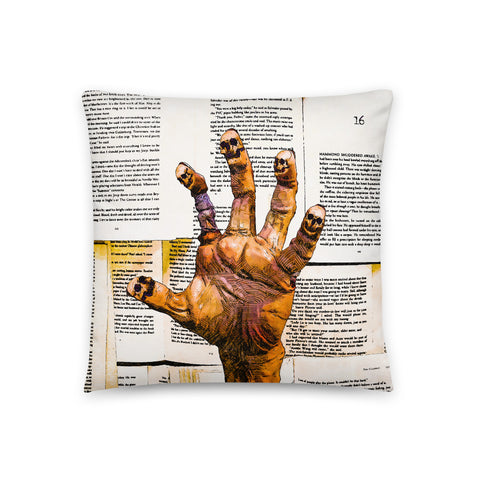 Keep on Reading Throw Pillow - NeoSkull