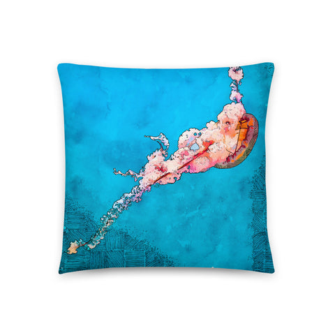 Lonely Jellyfish Throw Pillow - NeoSkull