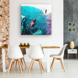 Deep Sea Fishing Canvas Wall Art - NeoSkull