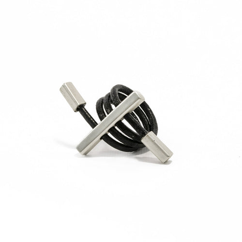 Adjustable Leather Ring