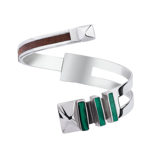 Contrast Cuff in Malachite