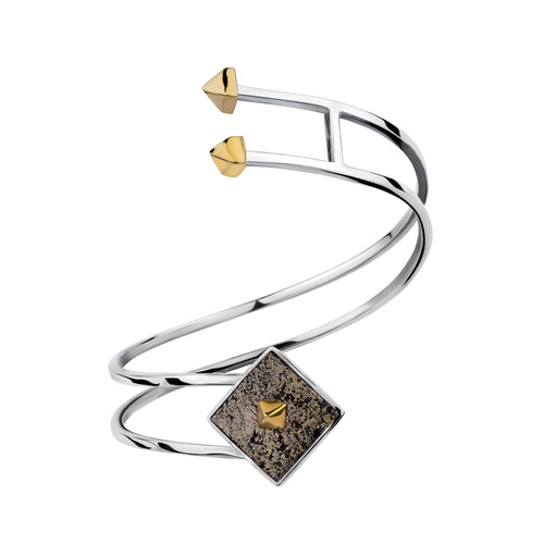 Twist Cuff in Pyrite