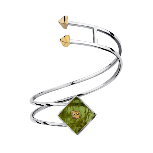 Twist Cuff in Tourmaline