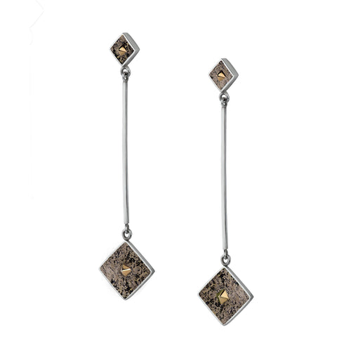Twist Earrings in Pyrite