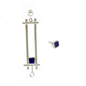 One-Sided Lapis Earrings
