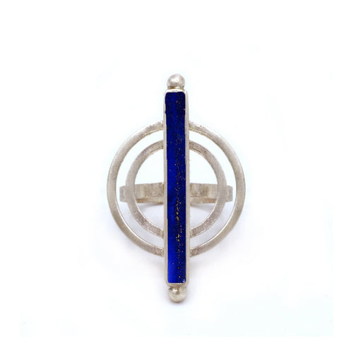 Power Ring in Lapis Lazuli