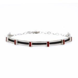 Hexa Choker in Black Leather