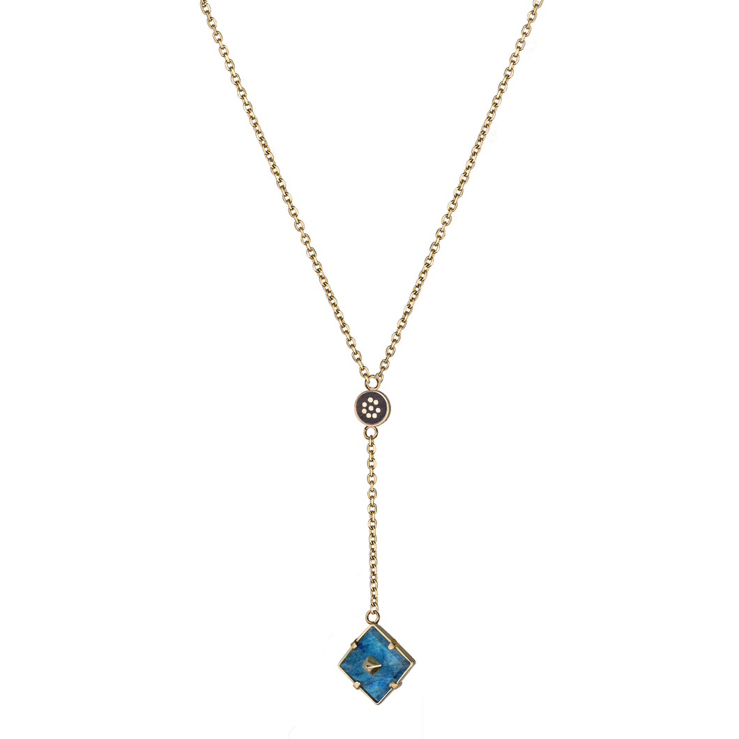 Long Squared Pin Necklace