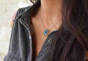 Large Squared Pin Pendant