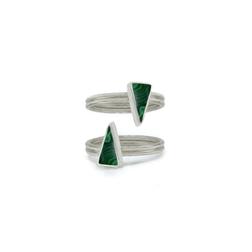 Stackable Triangular Rings in Malachites