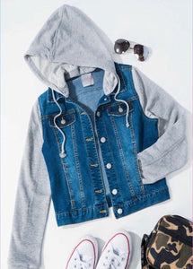 Malibu Denim Terry Jacket