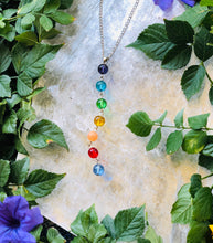 Load image into Gallery viewer, Seven Chakra Crystal Necklace