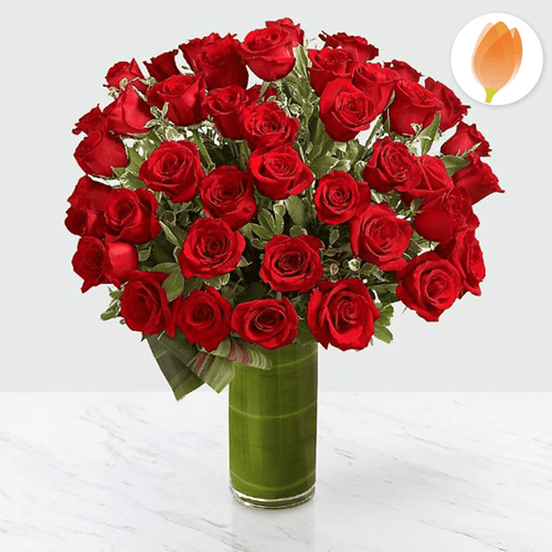 Bouquet Rosas Rojas Luxury x48 - Flores 24 Horas