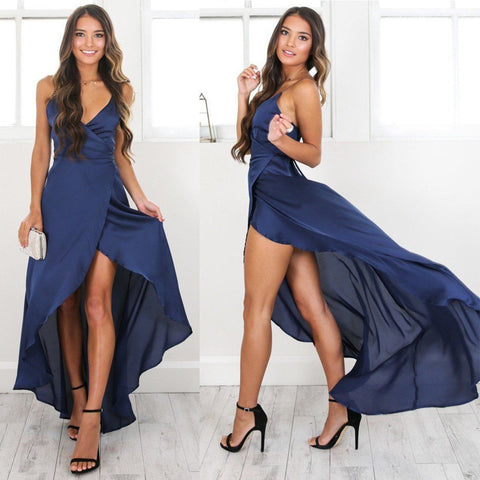 Women Fashion Formal Long Maxi Dress Ladies Sexy Skinny Sleeveless V-Neck Long Maxi Dress Women Clothing