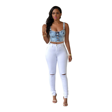 Fashion High Waisted Skinny jean