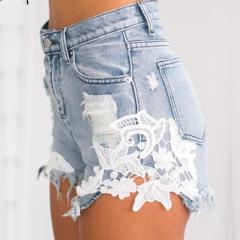 Women's 2018 ripped pocket women shorts Summer casual denim shorts vintage hot shorts denim shorts for women