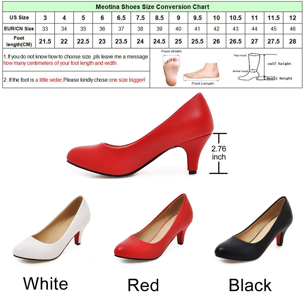 ... Women s High Heel Shoes Pumps Plus size 33-43 Pointed Toe High Heels  Slip- ... 183f5e07057e