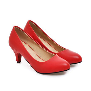 Women s High Heel Shoes Pumps Plus size 33-43 Pointed Toe High Heels Slip- b72e31de39dd