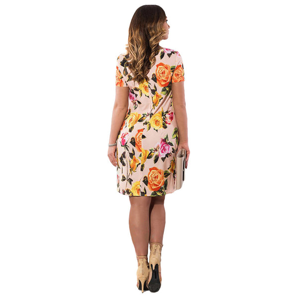 Autumn Floral Print Dress