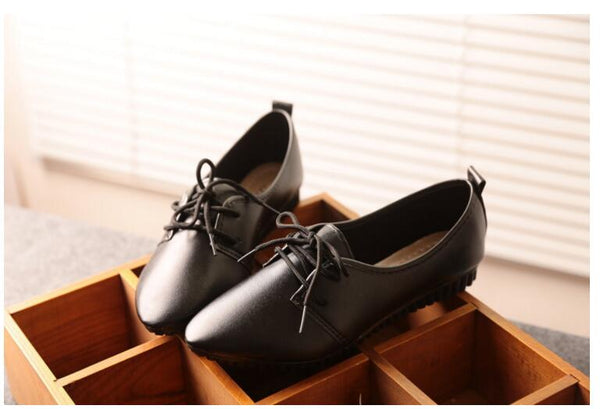 2018 Women's Shoes high quality women flats shpes slip on women flat Doudou shoes lace-up ladies shoes