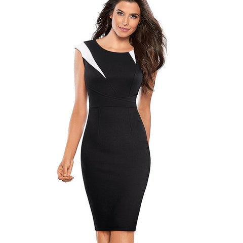 Forever Vintage Optical Illusion Business Sheath Dress