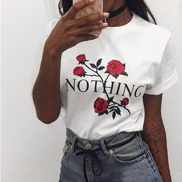 Women's Summer Harajuku See Through Top  Sexy Shirt Transparent Vogue Funny T Shirt Women White Flowers Print Femme Tshirt