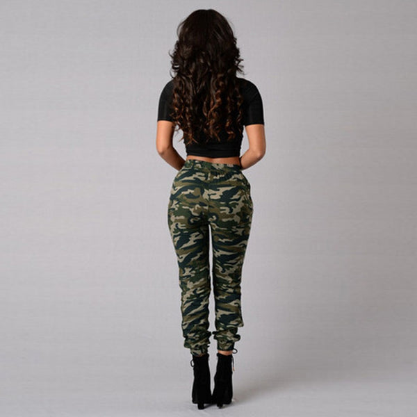Camouflage Pants Joggers Print Elastic Waist