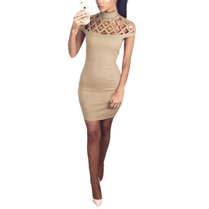 Women's Party Dress Hollow Out Mesh Slim
