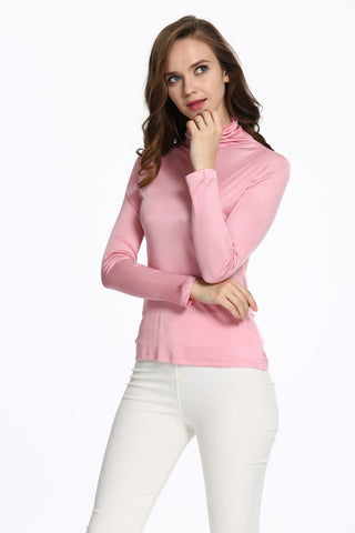 Women's Thin Pure Silk High Collar Double Knitted Comfortably Knit Sweater Women's Super Comfort Long Sleeved Warm Sweater