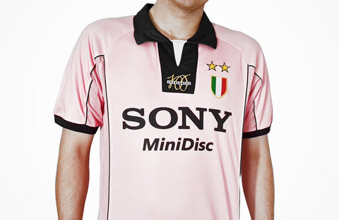 juventus retro pink replica shirt