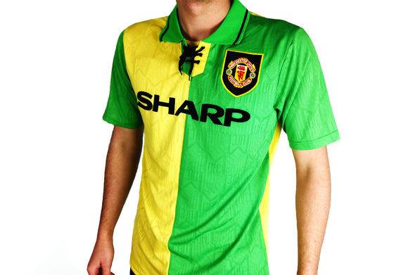 Manchester United FC - 1992/94 Green Kit - the-retrosoccerlocker