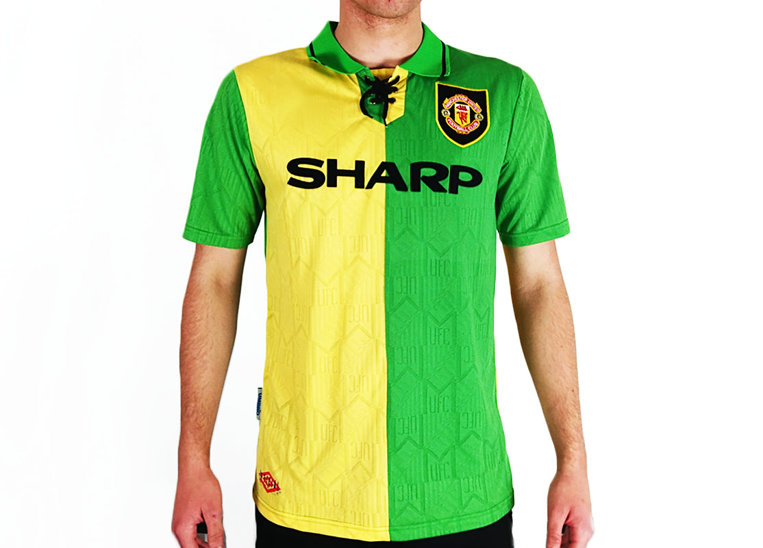 save off 9dc89 c469e Manchester United FC - 1992/94 Green Kit