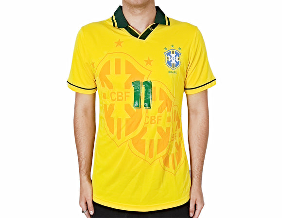 Brazil 1994 Shirt - World Cup Football Kit - the-retrosoccerlocker