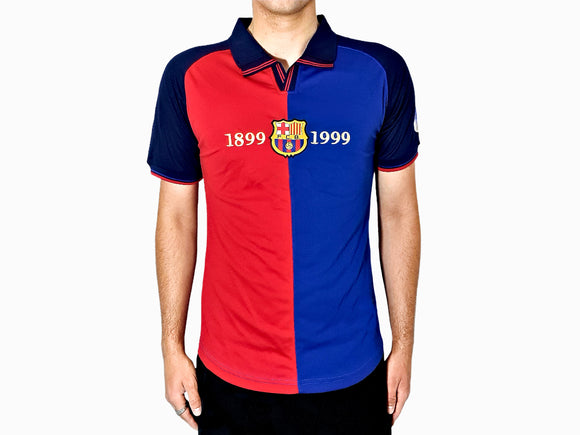 Barcelona FC - 1998/99 Vintage Football Shirt - the-retrosoccerlocker