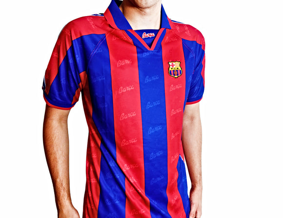Barcelona FC - 1996/97 Retro Football Shirt - the-retrosoccerlocker