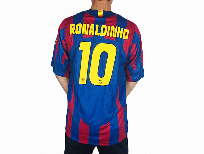 size 40 02594 b96b8 Barcelona FC - 2005/06 UCL Final Home Shirt
