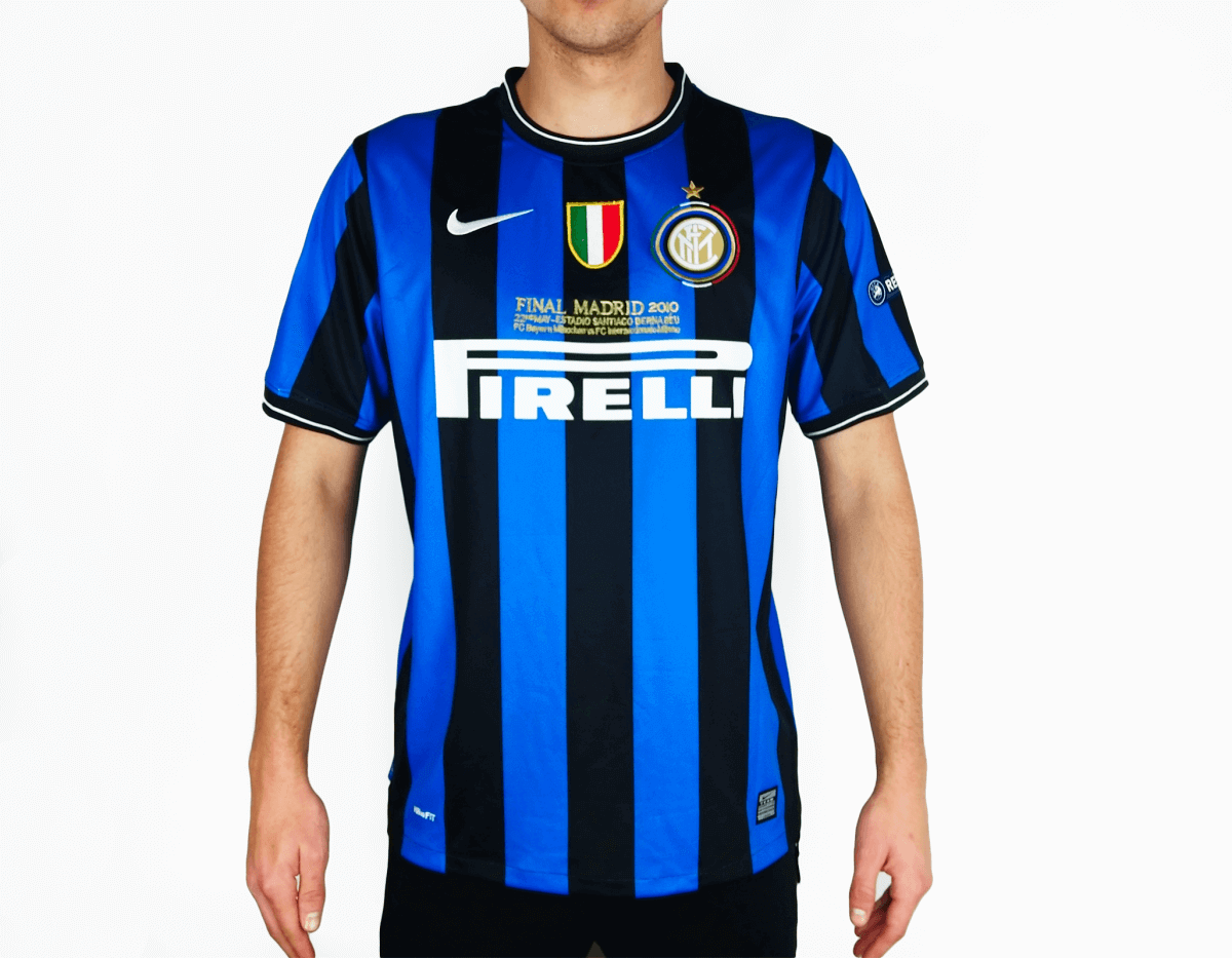 competitive price 29657 897bb Inter Milan - 2009/10 Home Vintage Football Shirt