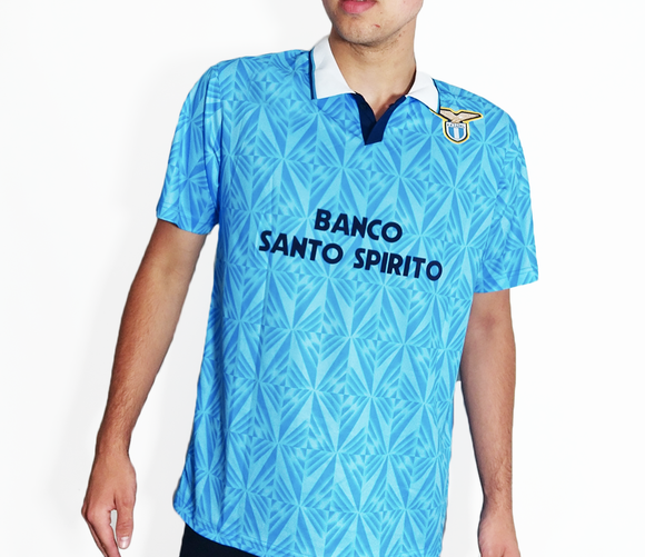 Lazio FC - 1991/92 Retro Home Football Shirt - the-retrosoccerlocker