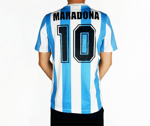 Maradona - 1986 Argentina Football Shirt - the-retrosoccerlocker