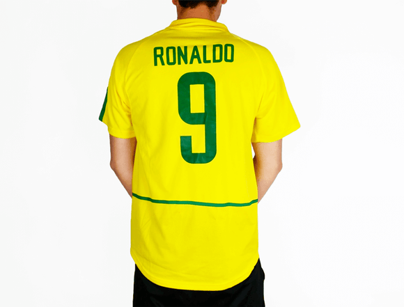 Ronaldo - 2002 Brazil World Cup Football Shirt - the-retrosoccerlocker