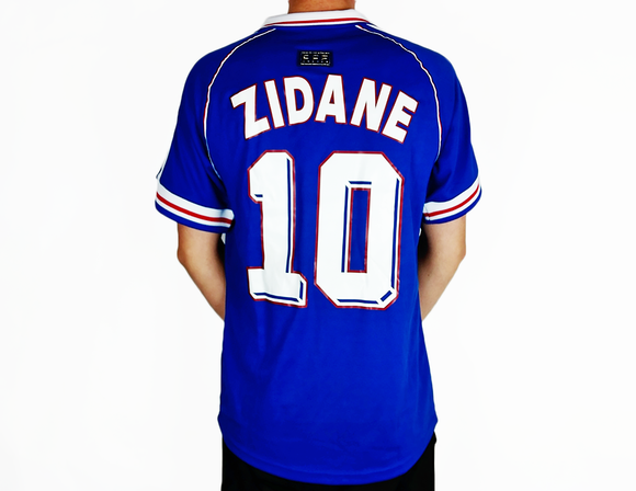 Zinedine Zidane - 1998 France World Cup Shirt - the-retrosoccerlocker