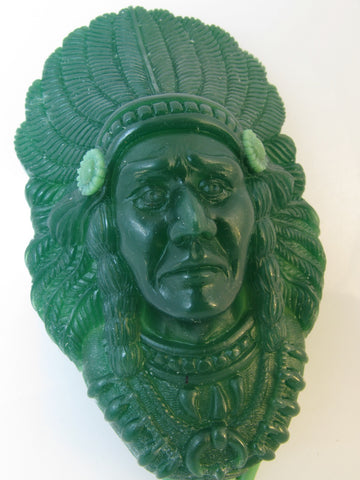 Wax model of the lagrge Indian Chief