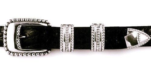 Sterling Beaded Edge 4 pc. buckle set